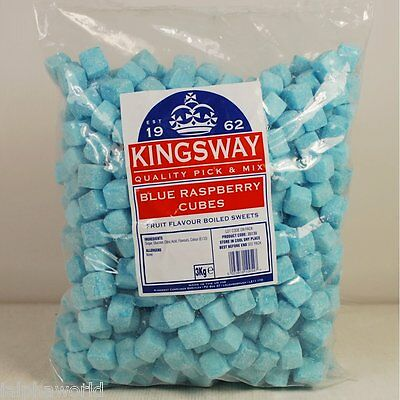 Blue Raspberry Cubes PICKnMIX Classic SWEETS & CANDY Wedding Favours GLUTEN FREE