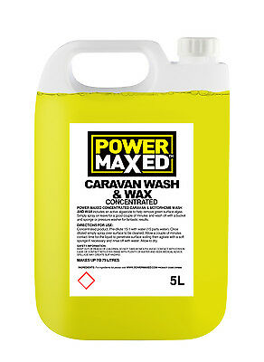 Power Maxed Caravan Wash & Wax 5 Litre