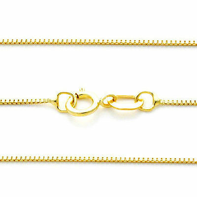 Thick Box Chain 14k Solid Yellow Gold 0.55mm