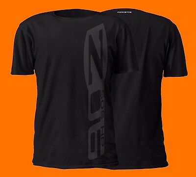 Chevrolet Corvette Z06 Black on Black Vertical Design Cotton T-Shirt | LS C6 C7