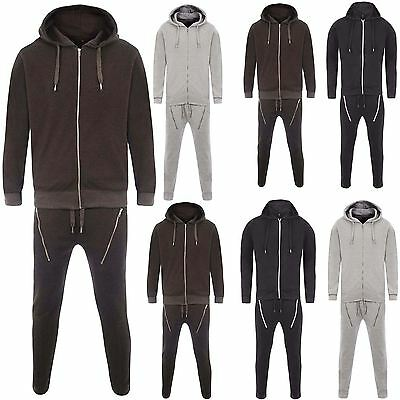 Mens Essentials Textured Deep Crotch Pocket Zips Trousers Bottoms Gym Tracksuit