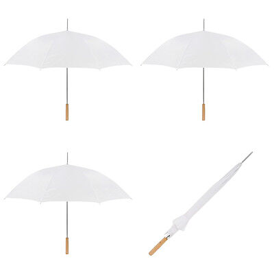 Wedding Umbrella - Auto Open Umbrella - 10 Pack By Anderson Umbrella (White)