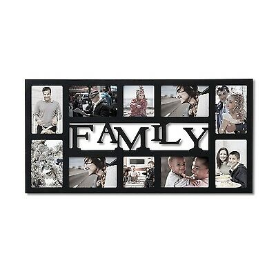 4750x1930 Black Wood 24 Opening Collage Frame Gift Family Photo