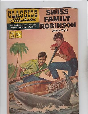 Classics Illustrated! Swiss Family Robinson! Issue 41!