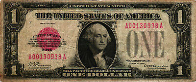 1928 $1.00 United States Note (Red Seal) FR 1500 - George Washington - FINE-