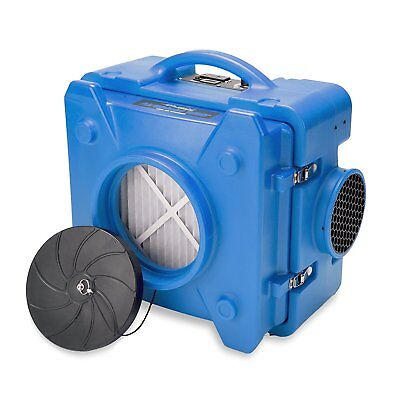 BlueDri Air Shield 550 AS-550 Hepa Negative Air Machine Scrubber Filtration Blue
