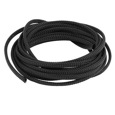 30cm x 3mm Black Nylon Expandable Braided Sleeving Cable Cover Wire Protector