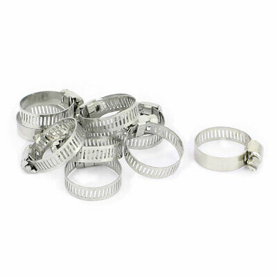 10 Pcs Adjustable 16mm-25mm Cable Tight Clamp Pipe Coolant Hose Fitting Clip