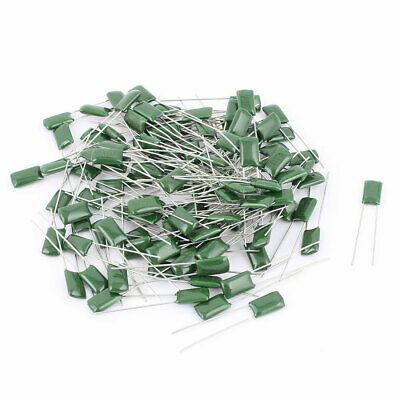 AC 100V 2A 10nF 5% Tolerance Radial Lead Polyester Film Capacitors 100Pcs