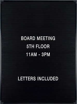 "Balt Essentials Black Letter Board with Letters 18""X24"" (84177)"