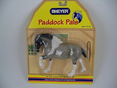 Breyer Horse Paddock Pals Spotted Drafter Blue Roan Pinto Retired NEW 1638