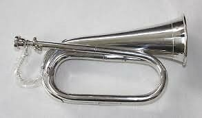 B Flat Bugle Silverplated Tuneable with Mouthpiece