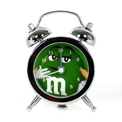 M&M's World Mini Alarm Clock Green Character New with Tags