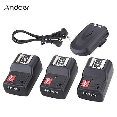 Andoer 16 Channel Wireless Remote Flash Trigger Set 1+3+1 for Canon Nikon J9A5