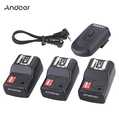 Andoer 16 Channel Wireless Remote Flash Trigger Set 1+3+1 for Canon Nikon DSLR