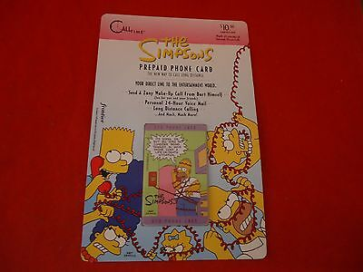 The Simpsons Prepaid Phone Card Homer Simpson 1995 Sealed / Unopened
