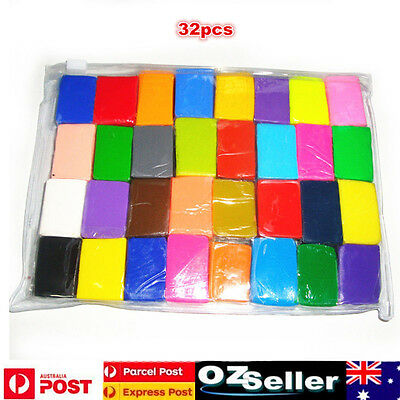 32pcs Malleable Fimo Polymer Clay Soft Modelling DIY Craft Block Plasticine Toys