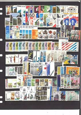 Netherlands 105 Different Mint Unhinged Stamps - Special Lot