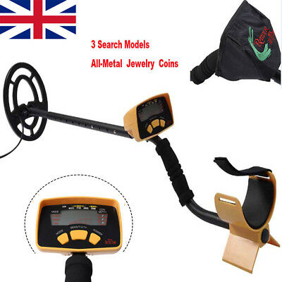 Metal Detector LCD Screen Treasure Hunting Deep Target Power Coils Waterproof UK