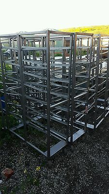 Bakery Pastry Rack Trolley butchers meat rack - Stainless Steel