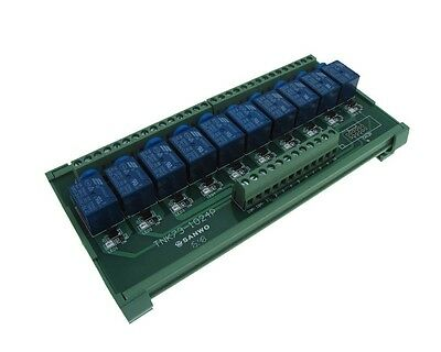 10 Channel 5VDC Relay Board PLC DIN Rail Mounting - PNP