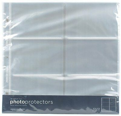 American Crafts 4x6 Photo Protector Sheets Package Quantity: 1 {76728} New