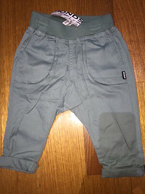 Baby BONDS POP pocket cargo pants green BNWT RRP $34.95 Size 00 - 1