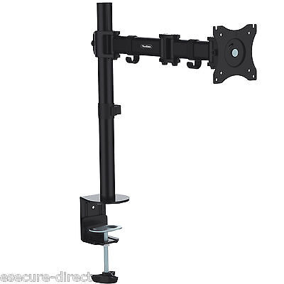 """VonHaus Single Arm LCD LED Monitor Desk Stand Mount for 13""""-27"""" Screens"""