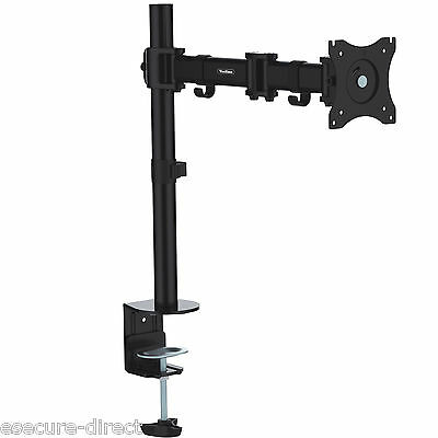 "VonHaus Single Arm Monitor Mount for 13""-27"" Screens Desktop Stand with Clamp"