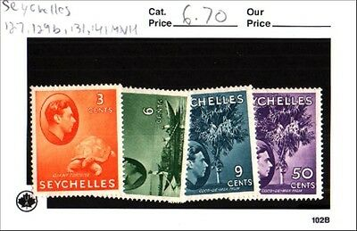 Seychelles Stamps Lot Scott 127, 129b, 131, 141 MNH Low Combined Shipping