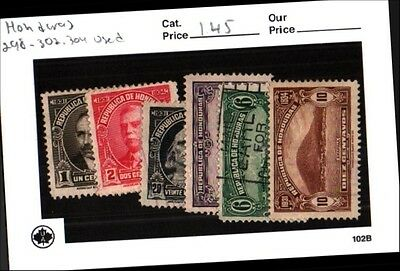 Honduras stamp lot Scott 298-302, 304 Used Low Combined Shipping
