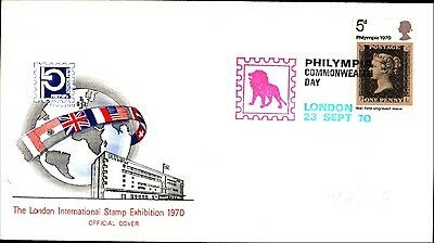 Great Britain London Stamp Ex. 1970 Cover Philympia