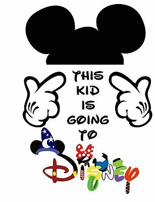 *****disney Mickey Mouse This Kid Is Going To *****shirt Iron On Transfer****