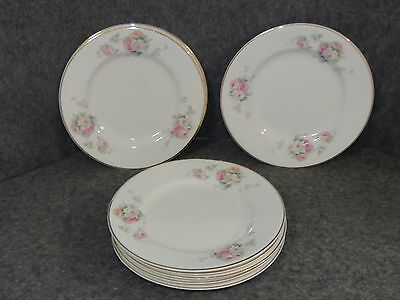 """Ant. W.S George Derwood Pink/White Rose Pattern 7 1/8"""" Bread  Butter Plate (9)#2"""