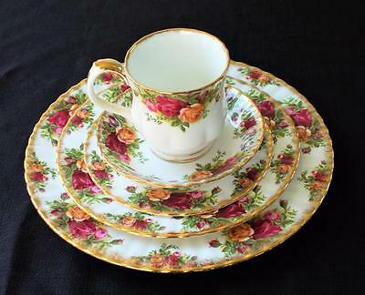 Vintage ROYAL ALBERT Bone China England OLD COUNTRY ROSE 5 Pc Place Settings  #1