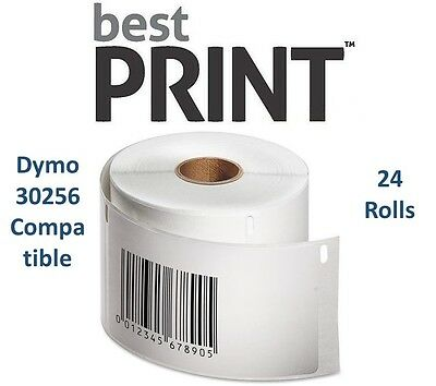 "24 Rolls of 300 Labels 2 5/16"" x 4""  For DYMO® LabelWriter® 30256 Compatible"