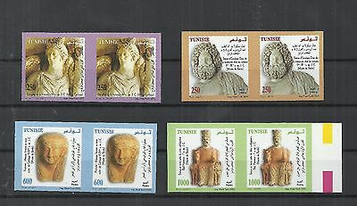 2005- Tunisia- Imperforated pair- Sculptures from the Punic and Roman Eras