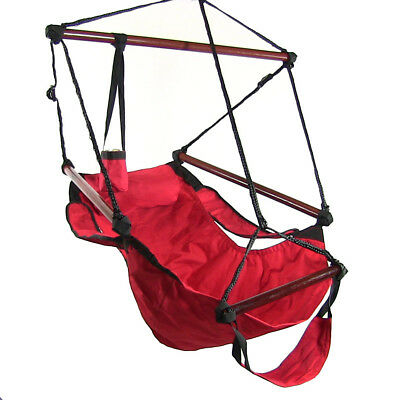 Sunnydaze Deluxe Hanging Hammock Air Chair Swing with Pillow - Choose Color