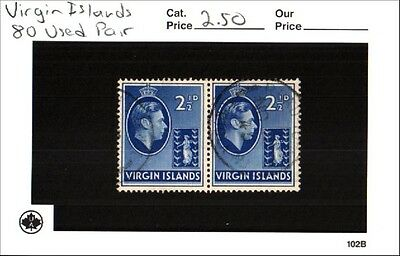 Virgin Islands Stamps Lot Scott 80 Used Pair Low Combined Shipping