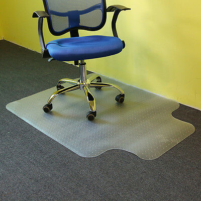 90X120CM Lipped Office Chair Desk Mat T-Shaped Carpet Protector PVC with Grips