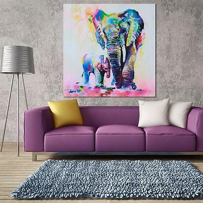 Watercolor Elephant HD Unframed Canvas Print Wall Art Abstract Painting Decor