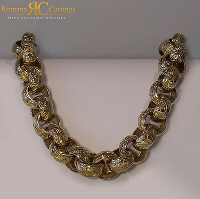 CHUNKY  MEN'S 22 INCH Belcher Chain Cast in 9ct Solid Gold 462g FULLY HALLMARKED