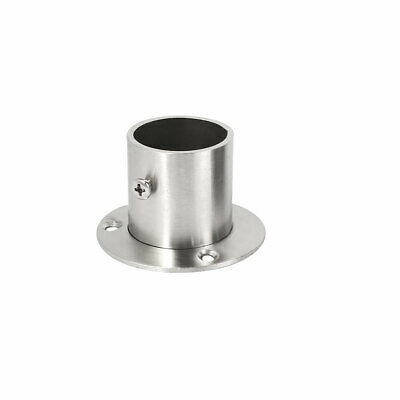 Wardrobe Stainless Steel Hanging Rail End Support Bracket for 32mm Dia Tube