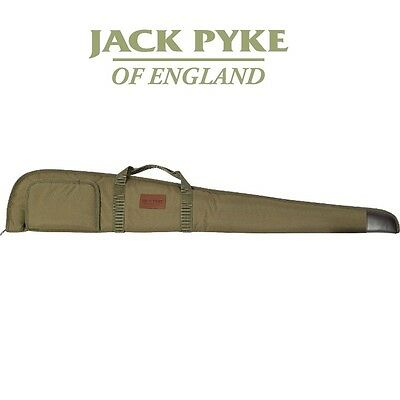 Jack Pyke Shotgun Slip Bag Case Olive Green Leather Trim Padded Interior