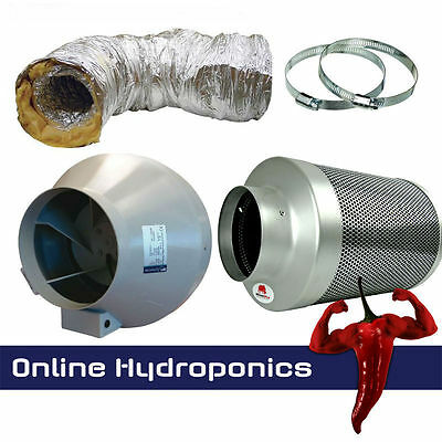 Rhino Pro Carbon Filter Kit 5m Sono Ducting + 2 Clamps