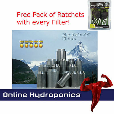 Mountain Air Carbon Filters All Sizes With Free Rope Ratchets! (Not Rhino)