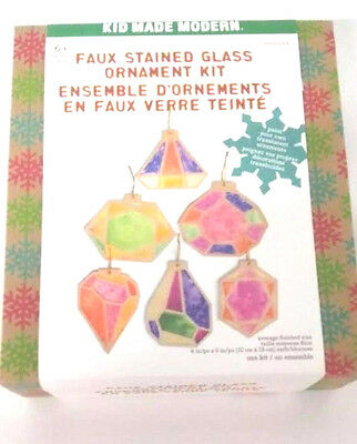 Kid Made Modern Faux Stained Glass Ornament Kit Art Craft Toy