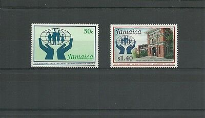 Jamaica Sg 818-819-50Th Anniv Of Credit Union Movement Mnh