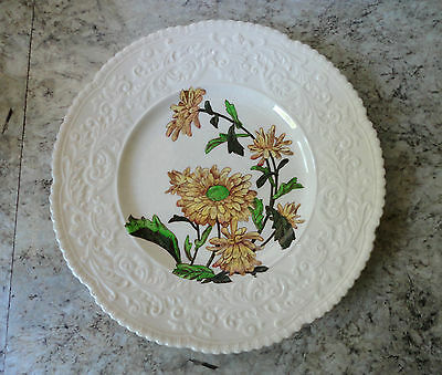 Lovely Old Vintage Antique Cauldon No. 1 Yellow Flowers Plate