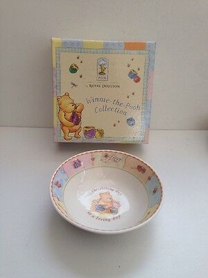 Classic Pooh Christening Day By Royal Doulton Bowl